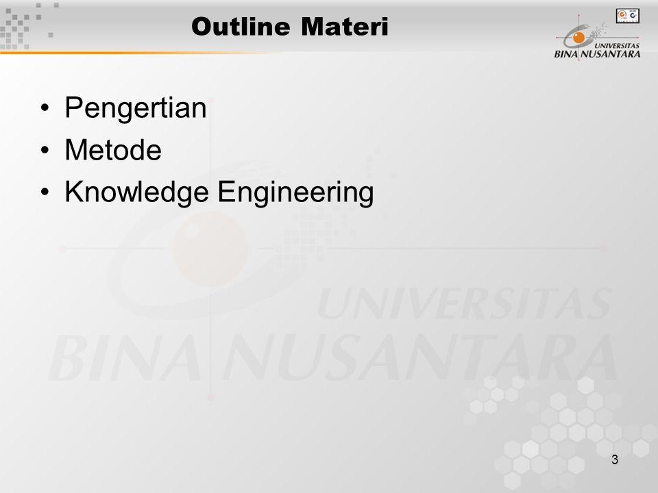 3 Outline Materi Pengertian Metode Knowledge Engineering
