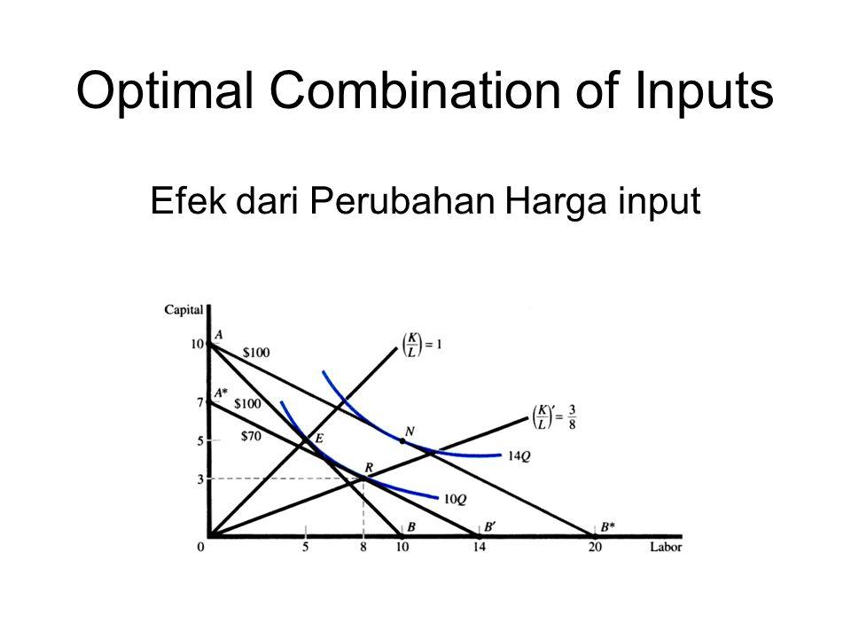 Optimal Combination of Inputs Efek dari Perubahan Harga input