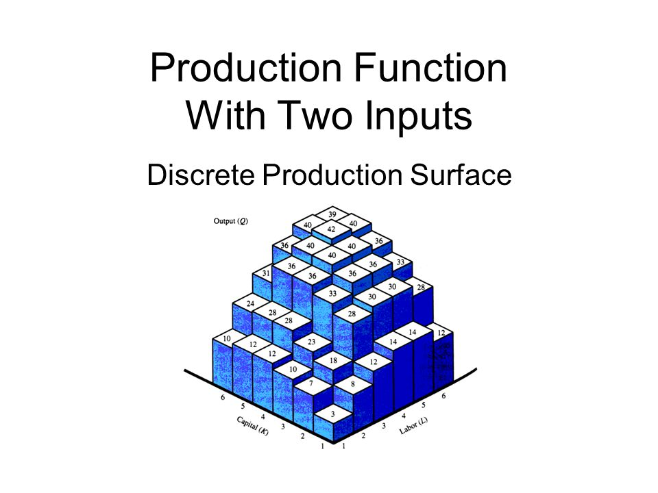 Production Function With Two Inputs Discrete Production Surface