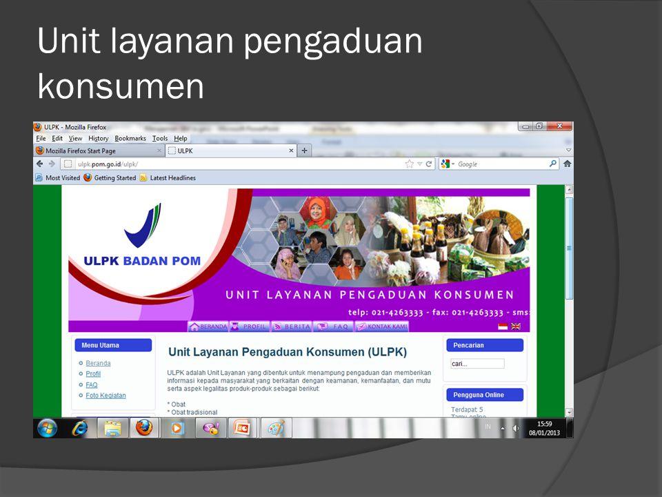 Unit layanan pengaduan konsumen