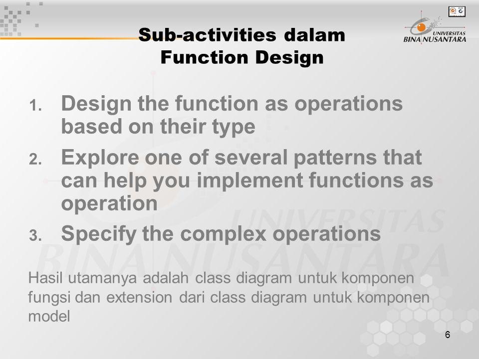 7 > Model > Function Class diagram dengan operation didalam class