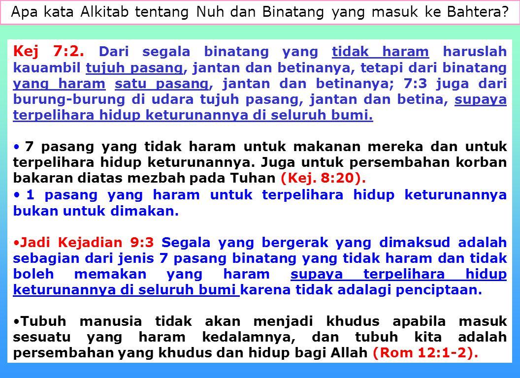 10 Apa makanan yang disediakan Allah bagi Manusia? Kesimpulan: Makanan manusia ialah biji-bijian, buah-buahan, sayur sayuran. Daging yang tidak haram