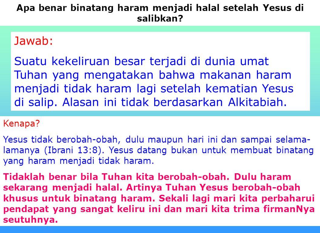 14 Adam - Nuh = 1056 tahun Adam - Air bah = 1656 tahun Adam - Jakup lahir = 2421 tahun Lamanya Yakub mengembara = 130 tahun(Kej 47 : 8-9) Lamanya B.Is