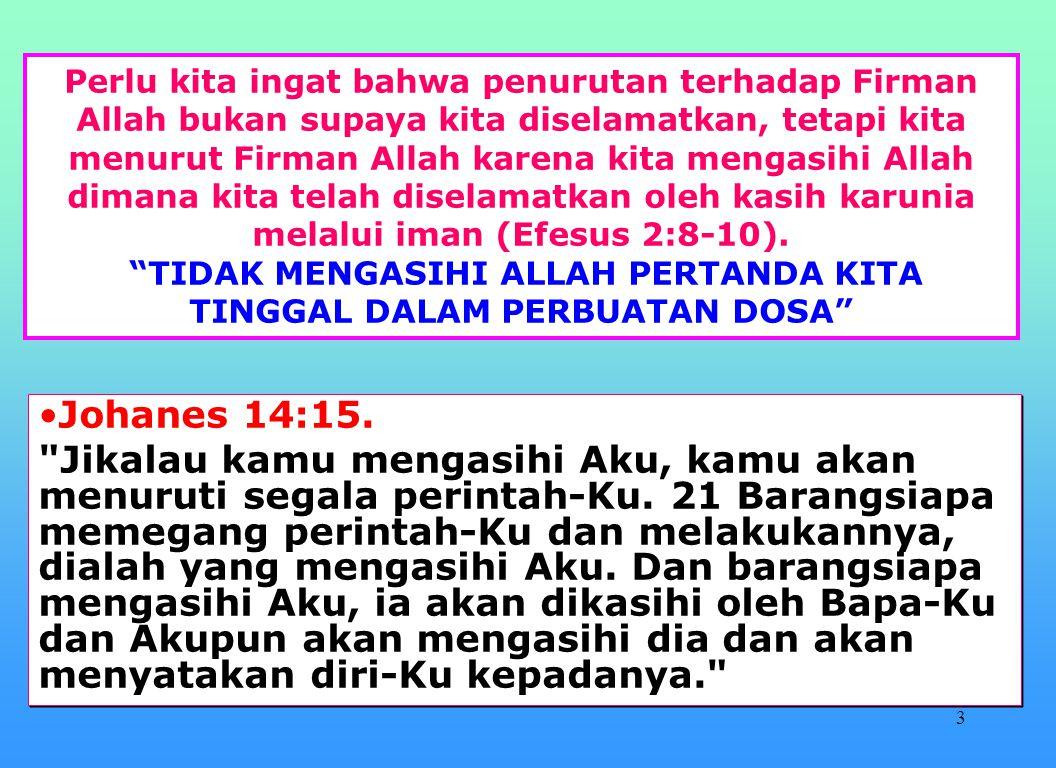 23 Apa arti dari yang masuk tidak menajiskan tetapi yang keluar yang menajiskan menurut Markus 7.
