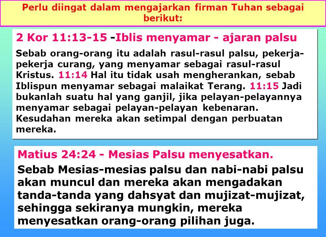 25 MARKUS 7 - kesimpulan mengenai yang menajiskan baca ayat 20 - 23.