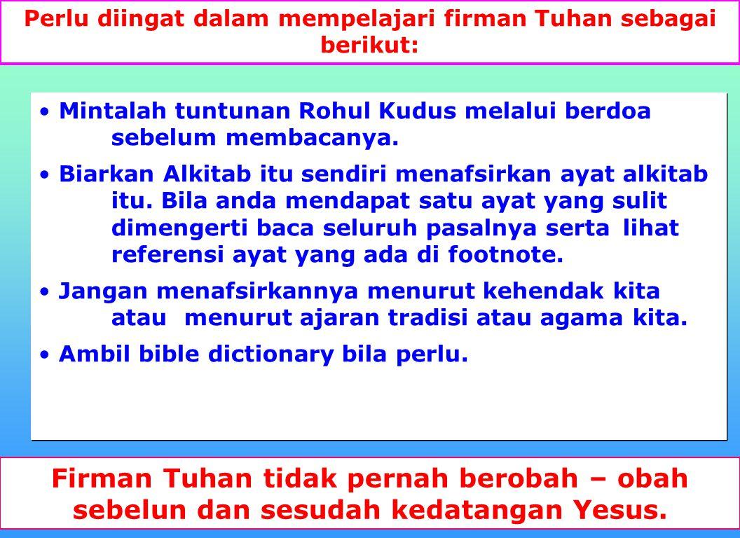5 2 Kor 11:13-15 -Iblis menyamar - ajaran palsu Sebab orang-orang itu adalah rasul-rasul palsu, pekerja- pekerja curang, yang menyamar sebagai rasul-r