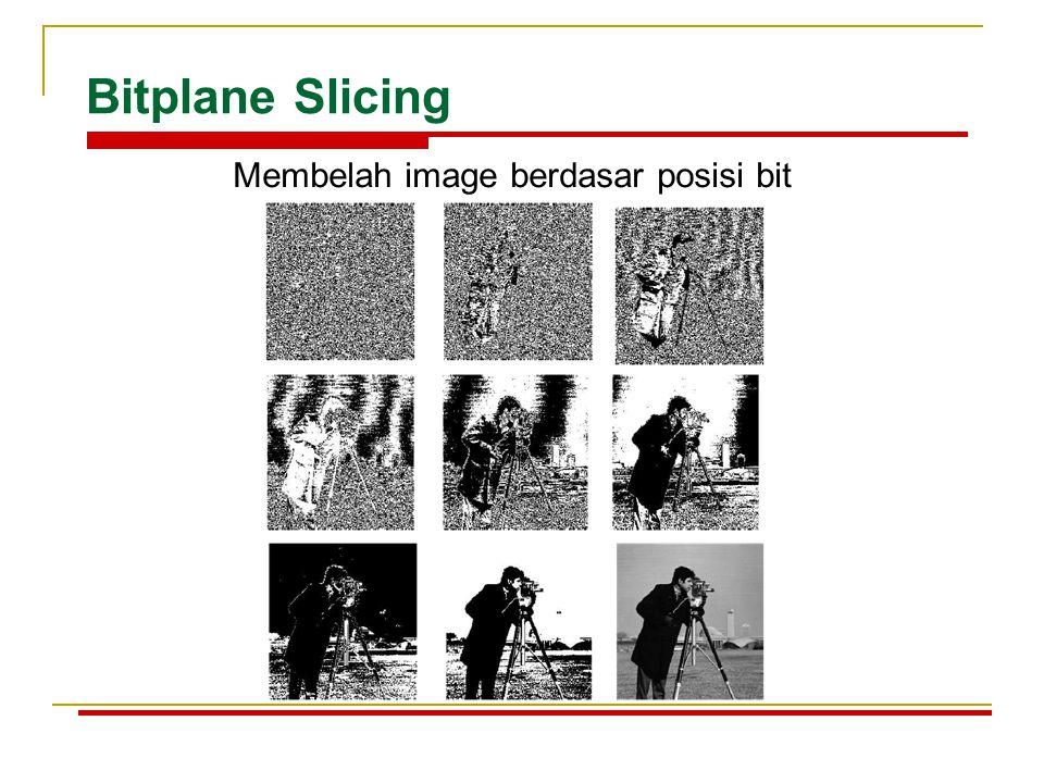 Bitplane Slicing Membelah image berdasar posisi bit