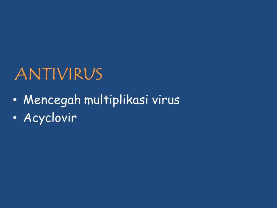ANTIVIRUS Mencegah multiplikasi virus Acyclovir