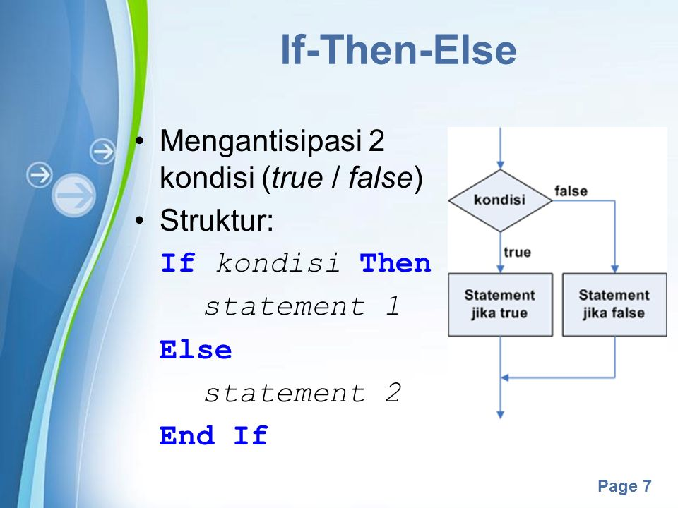 Powerpoint Templates Page 18 While (2) Contoh: Dim bil As Integer = 0 Dim batas As Integer = numUlang.Value listHasil.Items.Clear() While bil < batas bil += 1 listHasil.Items.Add( Perulangan: & bil) End While