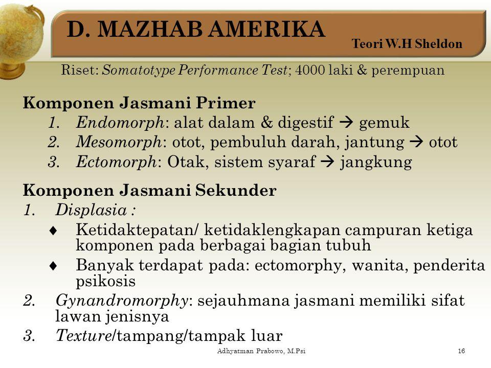 2. Temperamen a. Tipe schizothym : seperti schizophrenia tapi sangat tidak jelas. Ciri: menutup diri, asosial, cenderung autis b. Tipe cyclothym : sep