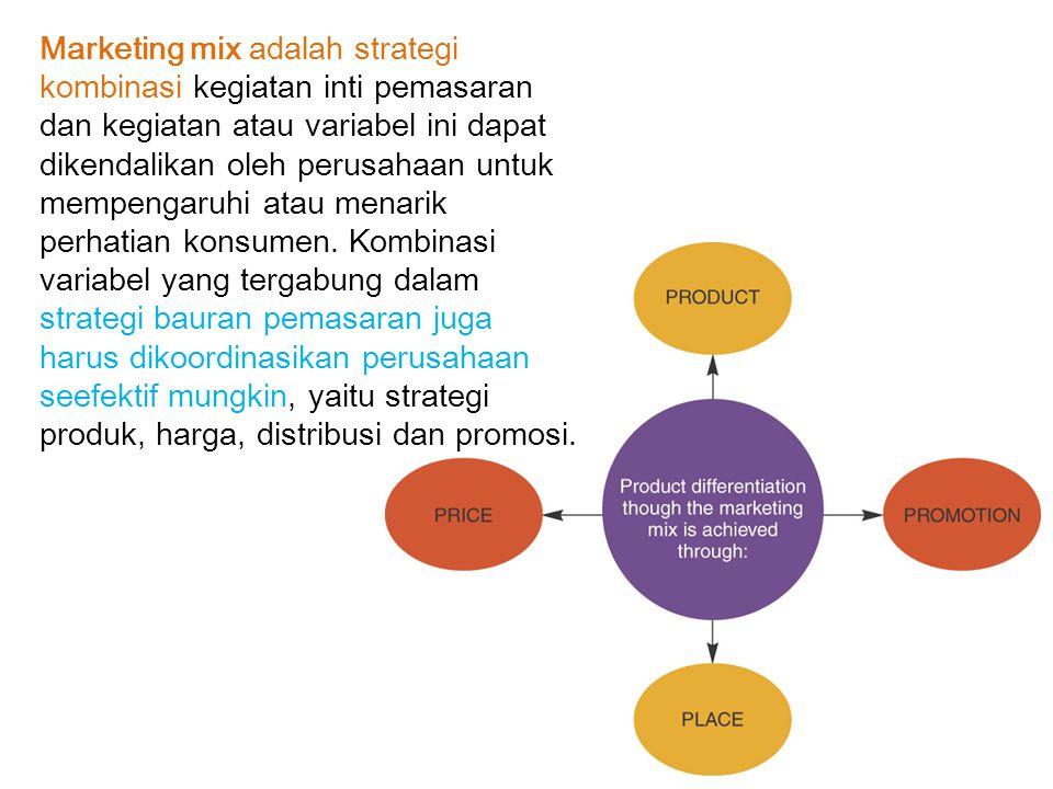 3 Strategi Penetrasi Pasar a.Mempengaruhi atau merebut konsumen pesaing. b.Merangsang konsumen agar meningkatkan pembeliannya. c. Mempengaruhi yang bu