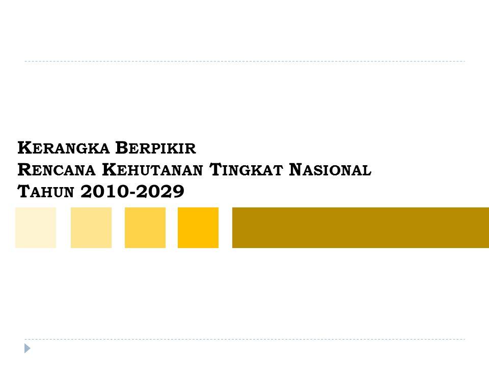 K ERANGKA B ERPIKIR R ENCANA K EHUTANAN T INGKAT N ASIONAL T AHUN 2010-2029