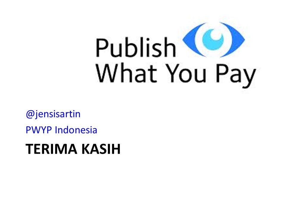 TERIMA KASIH @jensisartin PWYP Indonesia