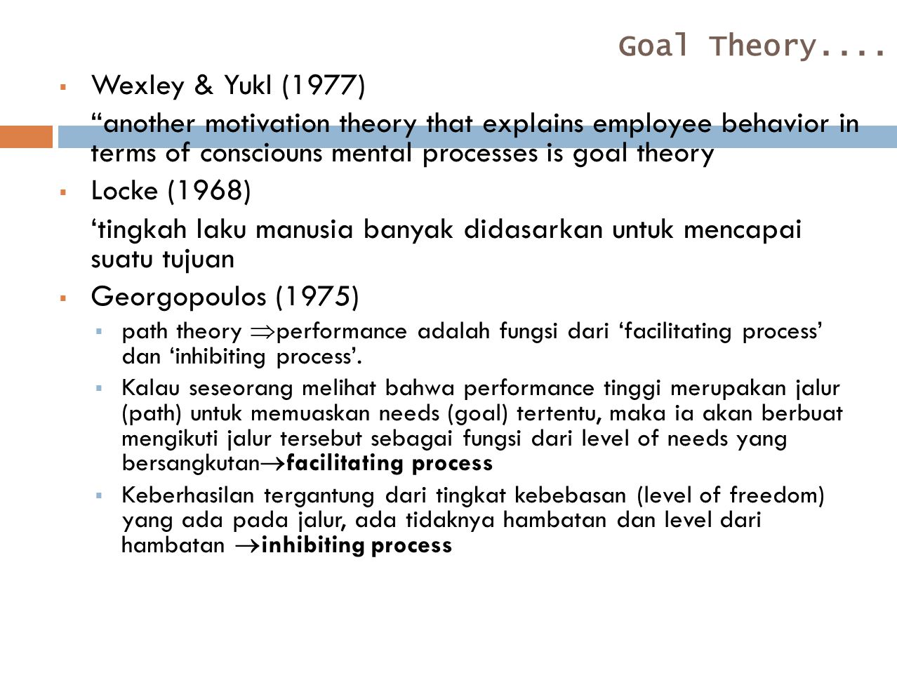 Goal Theory....