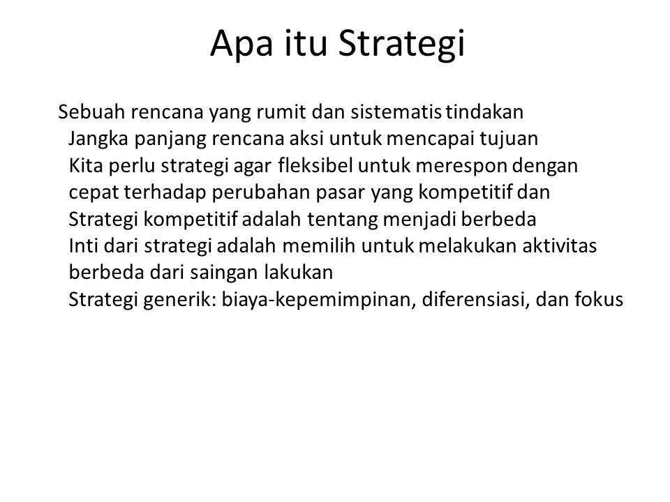 Apa itu Strategis Sangat penting atau merupakan bagian integral dari suatu strategi atau rencana aksi terutama dalam perang.