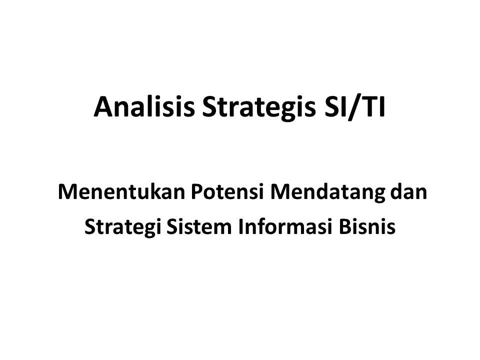 Analisis Strategis SI/TI Menentukan Potensi Mendatang dan Strategi Sistem Informasi Bisnis