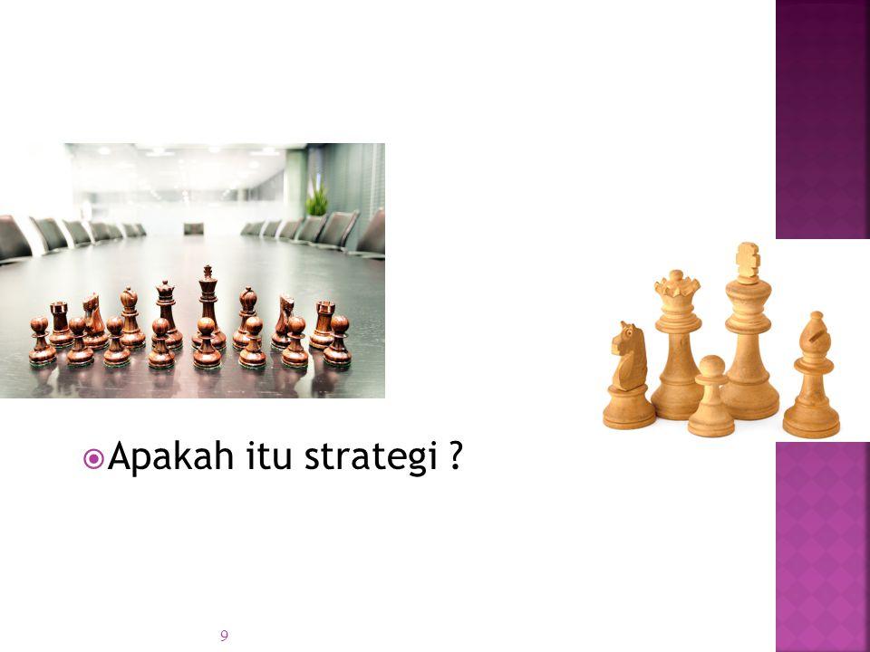  Apakah itu strategi ? 9