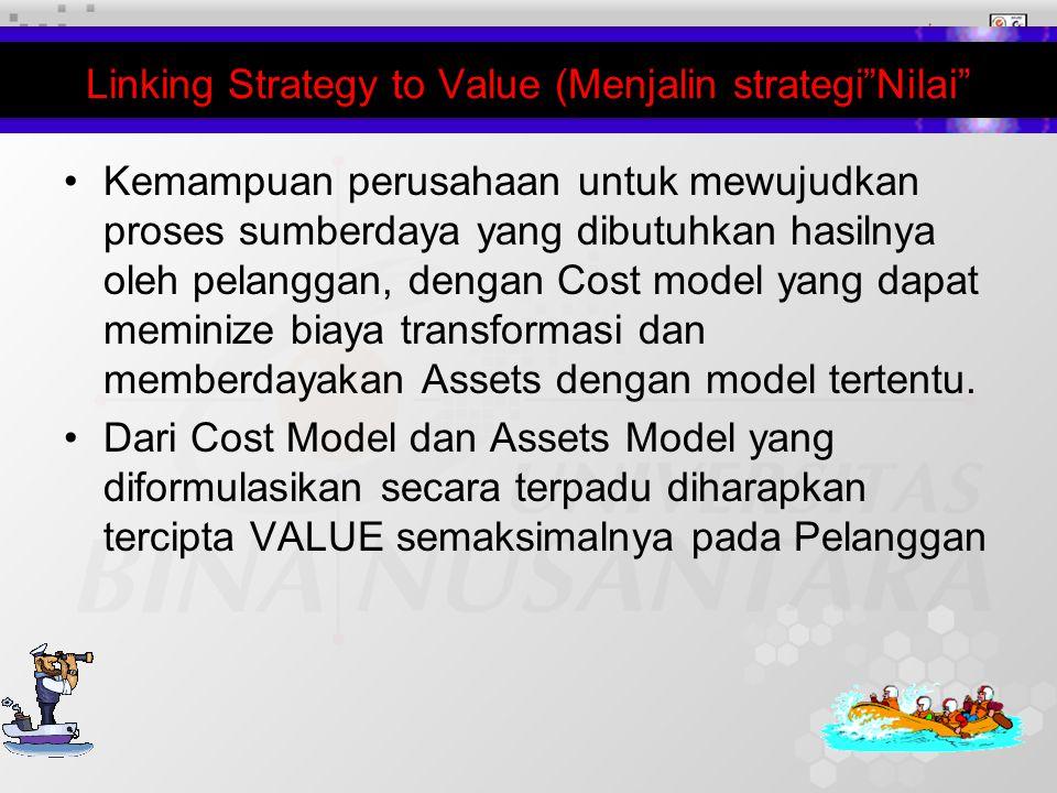11 Kemampuan perusahaan untuk mewujudkan proses sumberdaya yang dibutuhkan hasilnya oleh pelanggan, dengan Cost model yang dapat meminize biaya transformasi dan memberdayakan Assets dengan model tertentu.