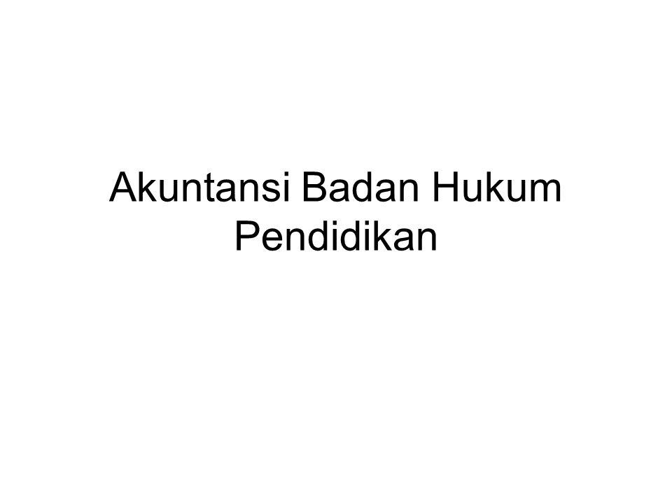 Akuntansi Badan Hukum Pendidikan