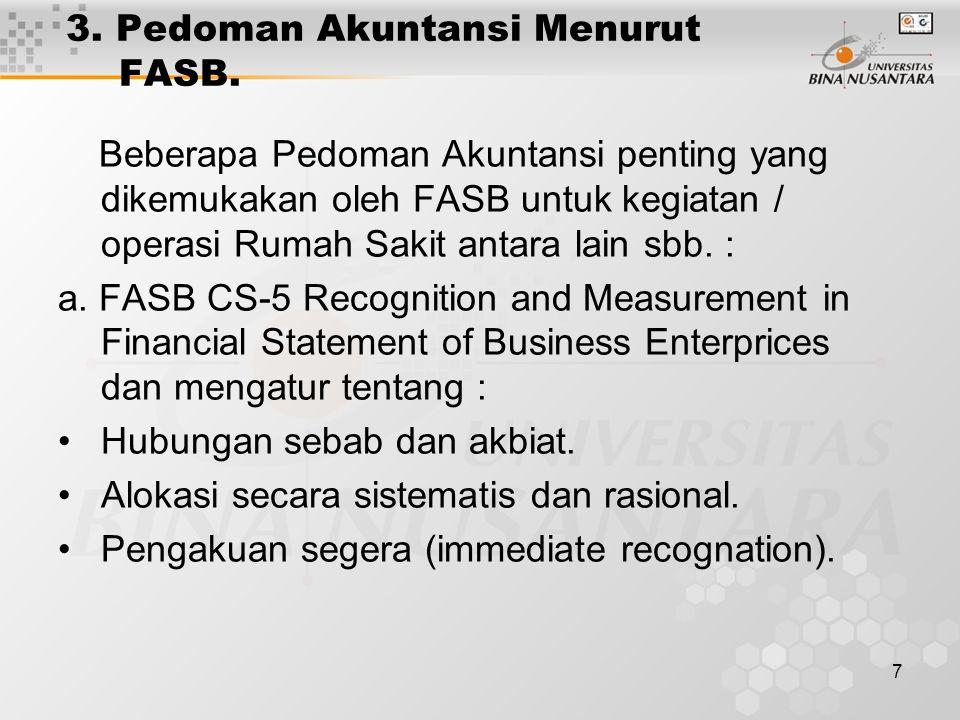 8 3.Pedoman (Lanjutan). FASB -5 Disclosure of Loss Contingency.