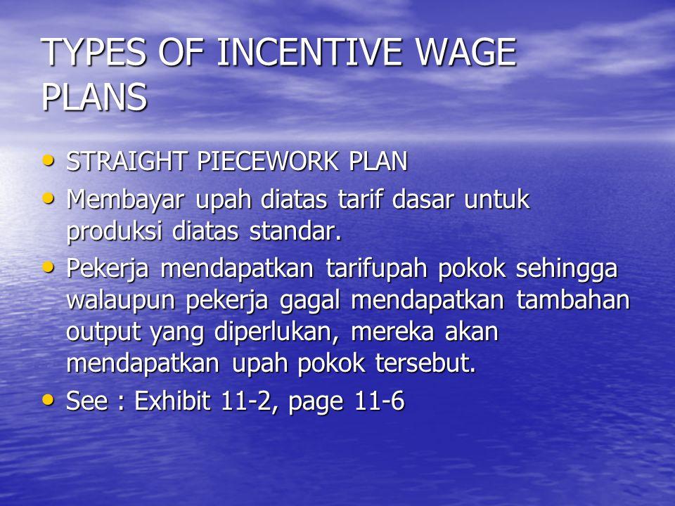 One-Hundred-Percent Bonus Plans Merupakan variasi dari rencana unit kerja langsung.