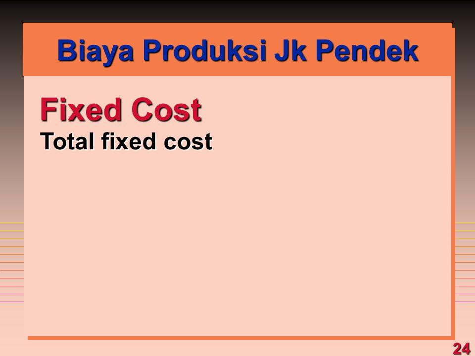 24 Fixed Cost Total fixed cost Biaya Produksi Jk Pendek