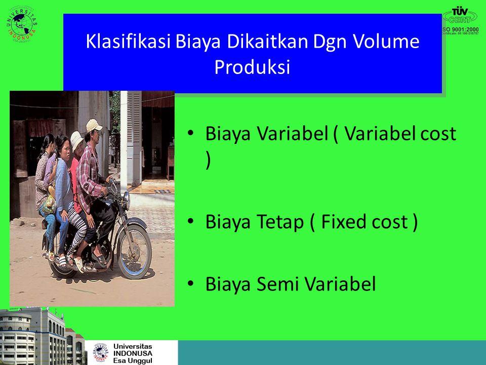 Klasifikasi Biaya Menurut Waktu Pengakuan Biaya Produk ( Product cost ) Biaya Periode ( Period cost )