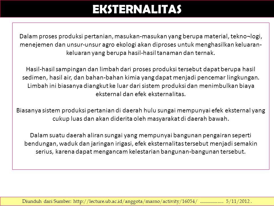 EKSTERNALITAS Diunduh dari Sumber: http://dickyhendramulyadi.blog.com/2012/02/04/eksternalitas-lingkungan/....................