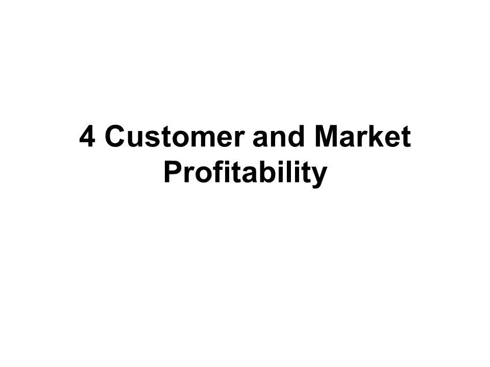 4 Customer and Market Profitability