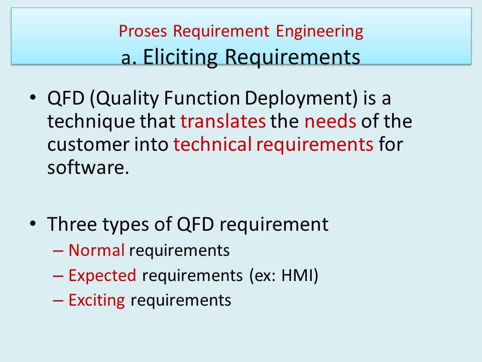 Proses Requirement Engineering a.
