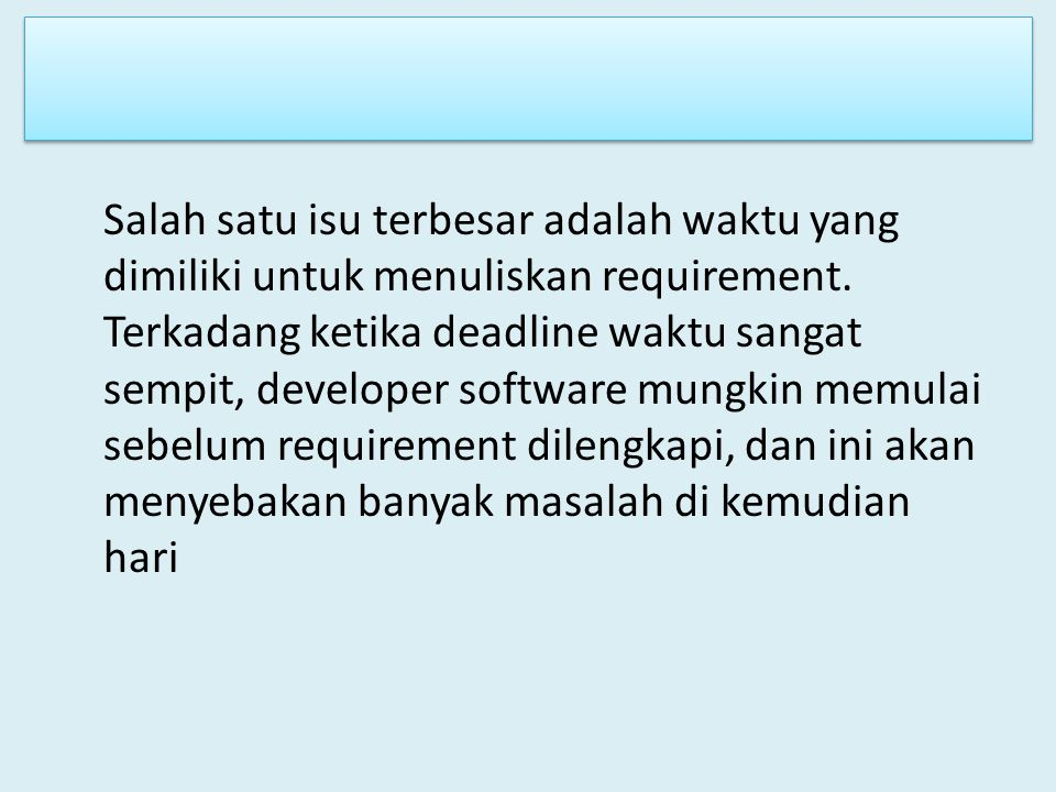 Proses Requirement Engineering d.
