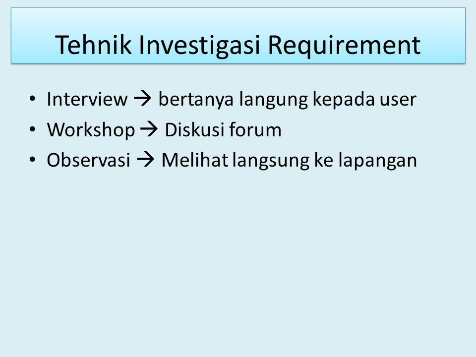 Proses Requirement Engineering c.