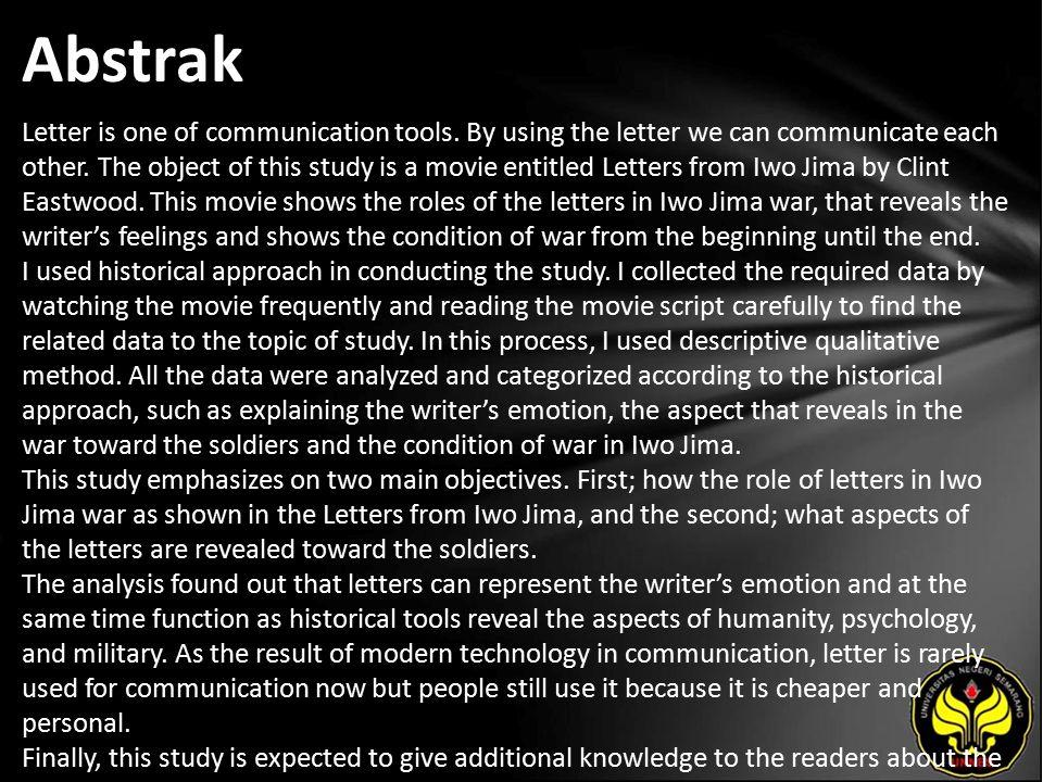 Kata Kunci Journalism, The role of letters in Iwo Jima war.