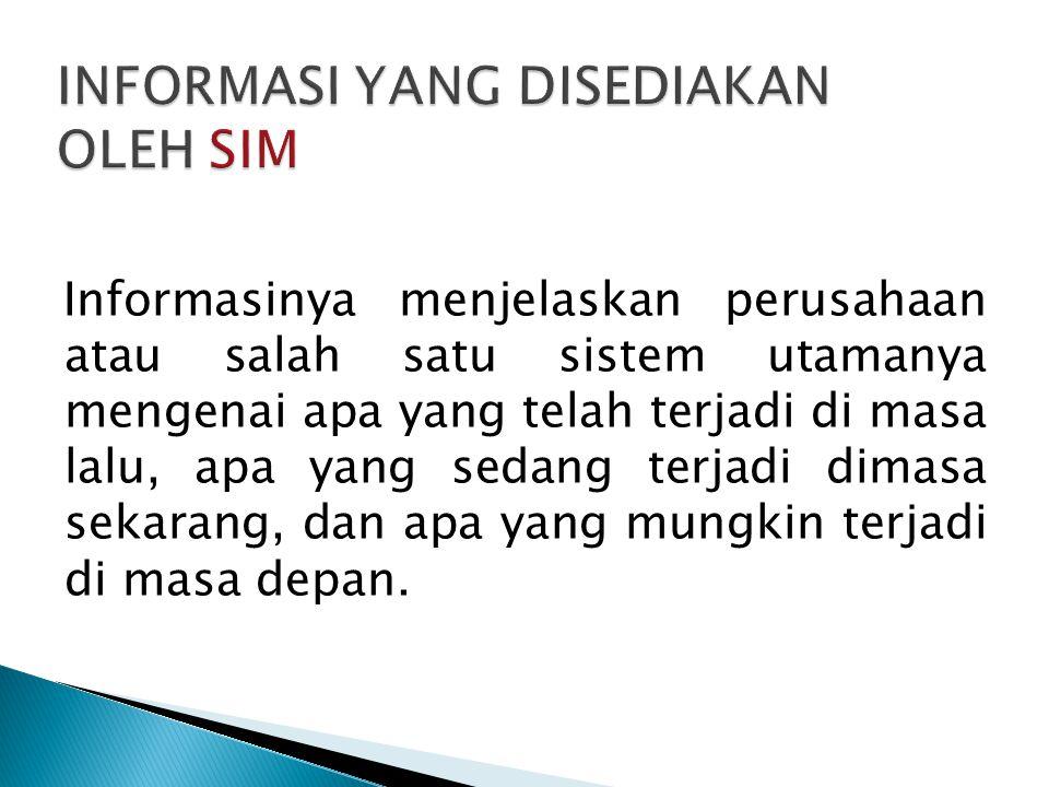 1.Sistem Informasi yang dirancang untuk digunakan oleh para eksekutif 2.