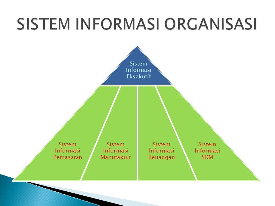 Sistem Informasi Pemasaran Sistem Informasi Manufaktur Sistem Informasi Keuangan Sistem Informasi SDM Sistem Informasi Eksekutif