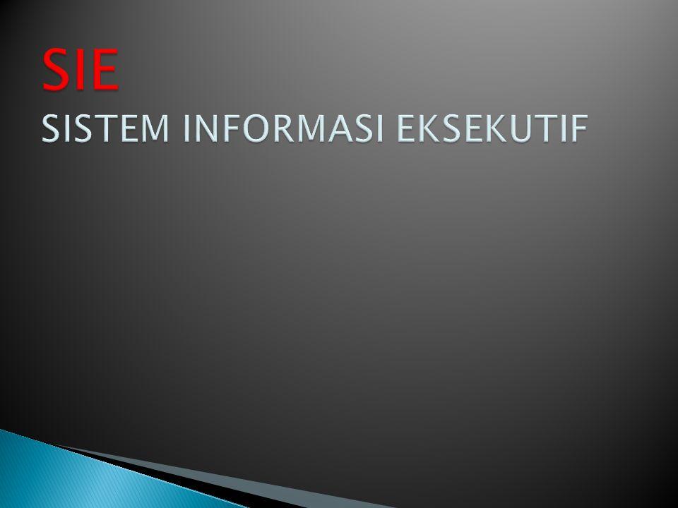  Eksekutif memberikan instruksi ke sistem melalui menu pilihan.