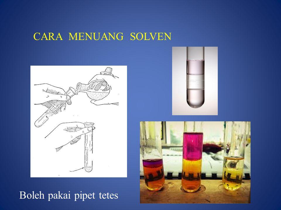 PERCOBAAN II : 1.Ambil 2 ml air, masukkan ke dalam tabung.