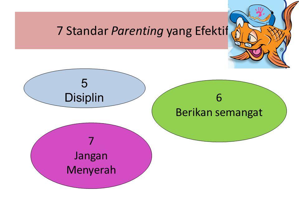 7 Standar Parenting yang Efektif 5 Disiplin 6 Berikan semangat 7 Jangan Menyerah