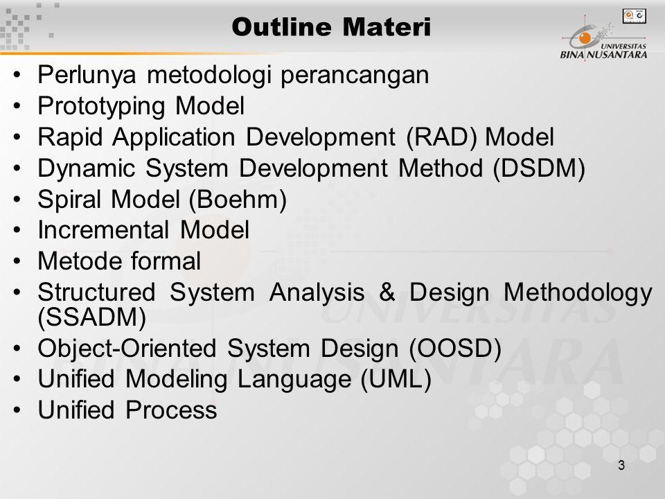 4 Perlunya Metodologi Perancangan  Di samping model SDLC (Pert.