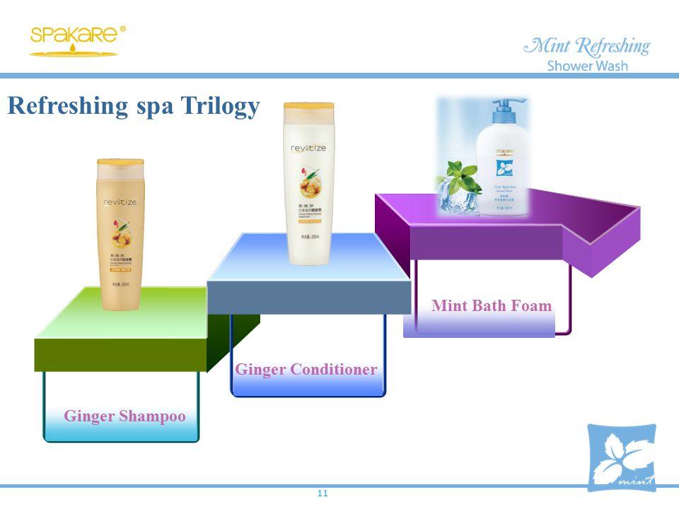 Refreshing spa Trilogy Ginger Conditioner Mint Bath Foam Ginger Shampoo 11