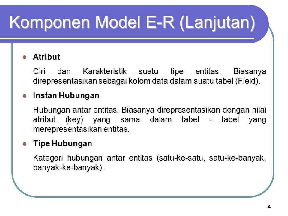 5 Notasi Dasar ERD
