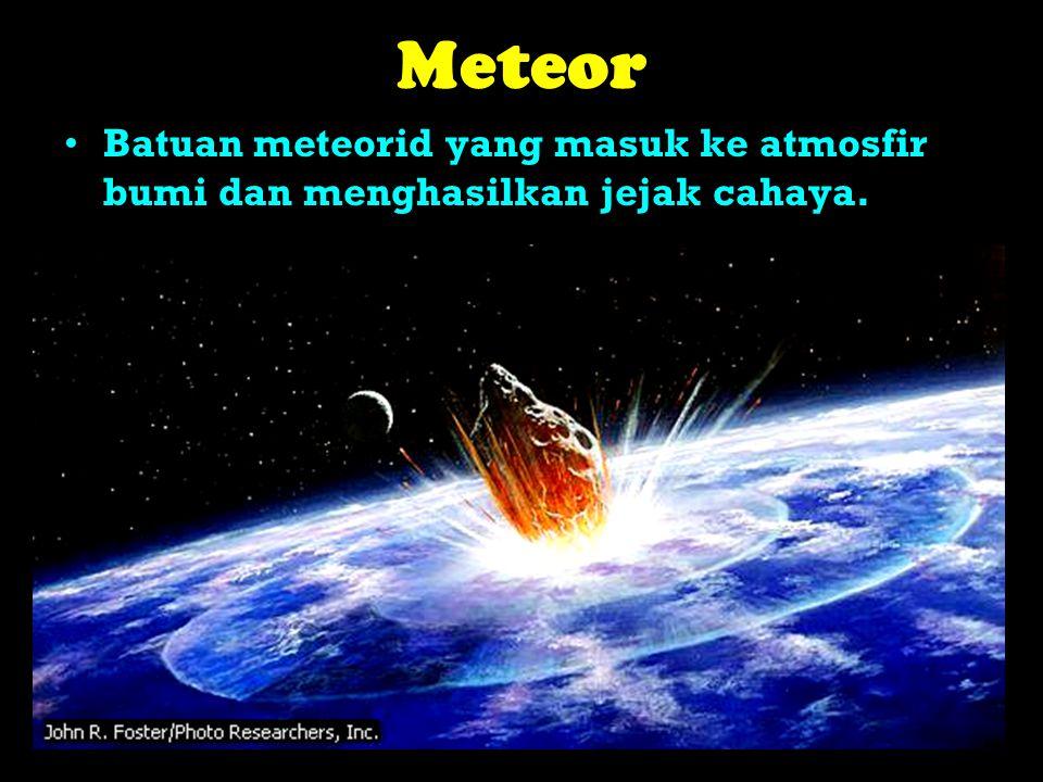 Meteor juga dinamakan bintang beralih