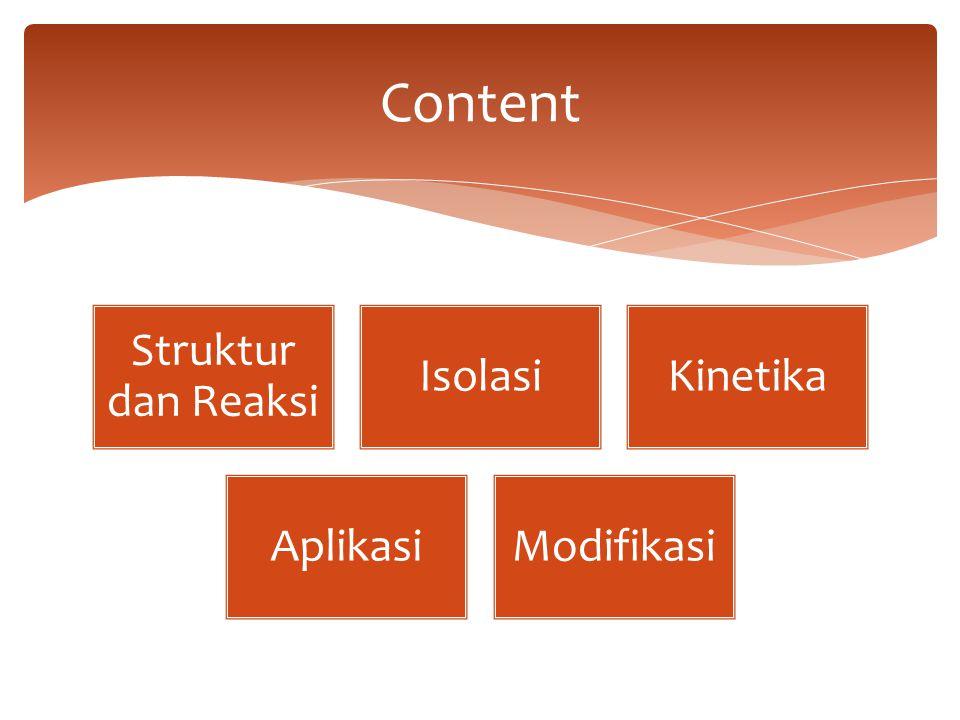 Struktur dan Reaksi IsolasiKinetika AplikasiModifikasi Content