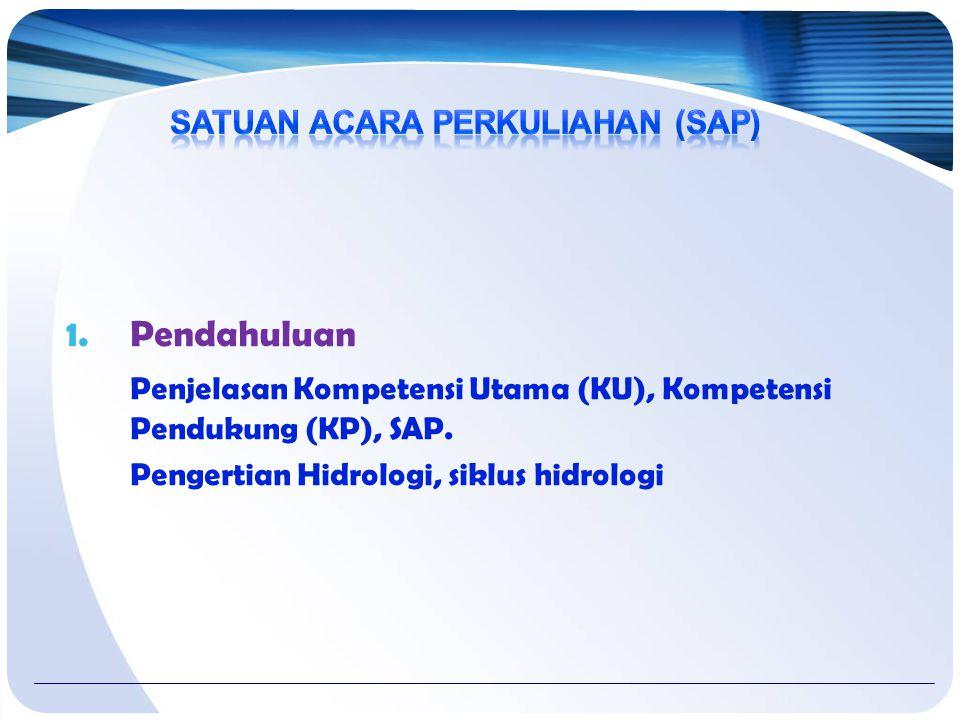 1.Pendahuluan Penjelasan Kompetensi Utama (KU), Kompetensi Pendukung (KP), SAP.