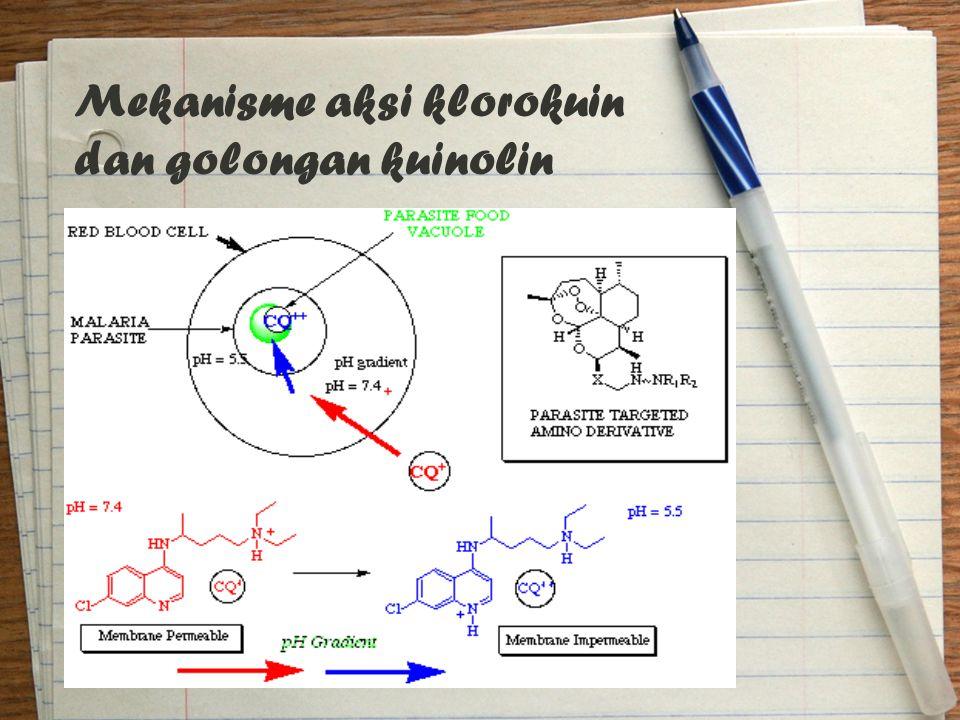 Mekanisme aksi klorokuin dan golongan kuinolin