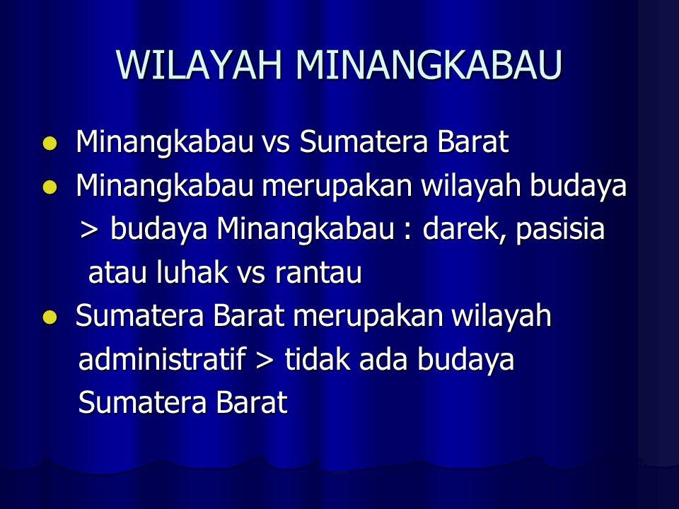 LUHAK vs RANTAU Secara etimologis bhs.Minangkabau, Secara etimologis bhs.