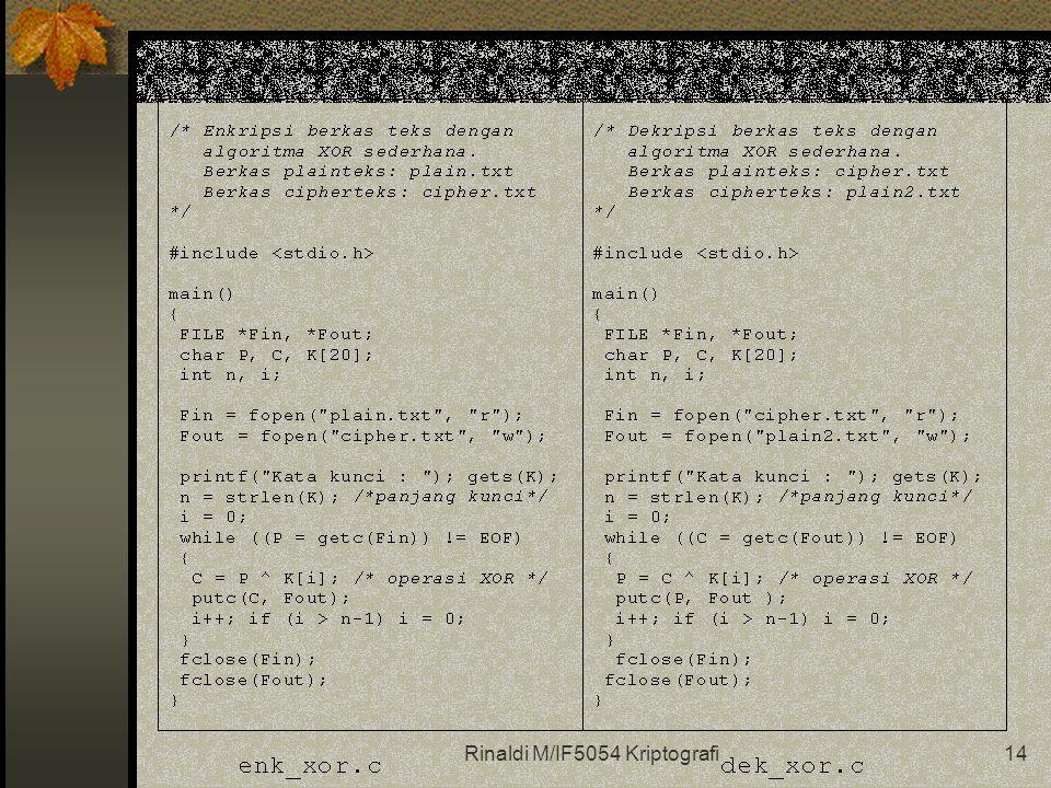Rinaldi M/IF5054 Kriptografi14