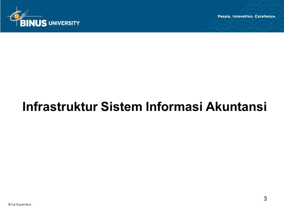 Bina Nusantara Infrastruktur Sistem Informasi Akuntansi 3