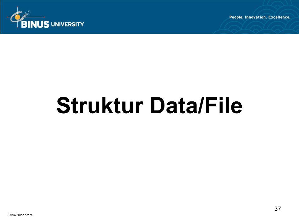 Bina Nusantara Struktur Data/File 37