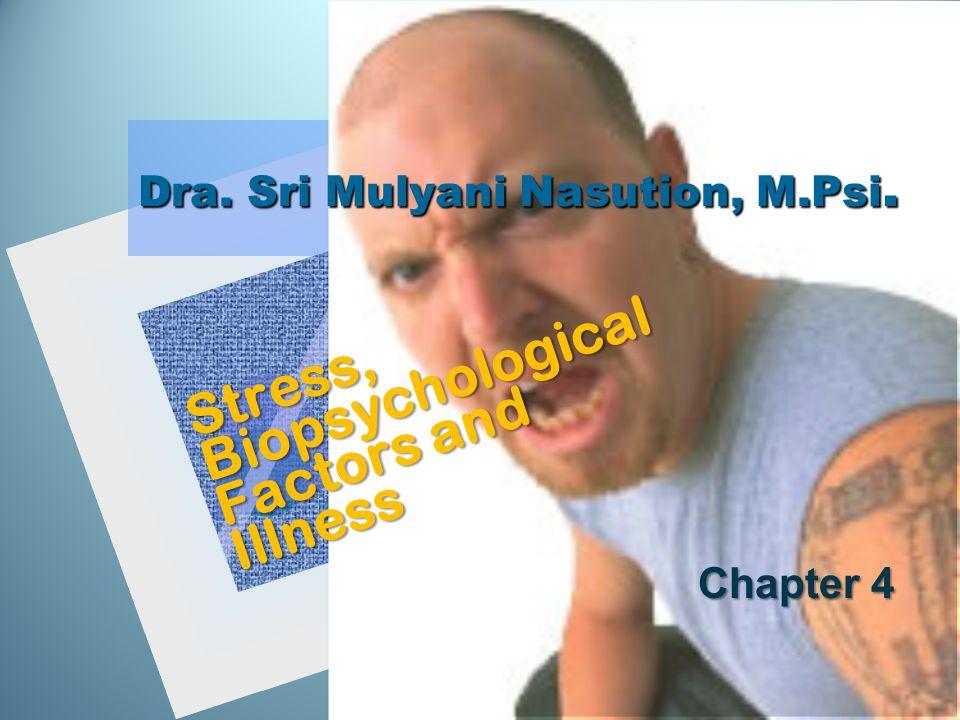 Dra. Sri Mulyani Nasution, M.Psi. Stress, Biopsychological Factors and Illness Chapter 4